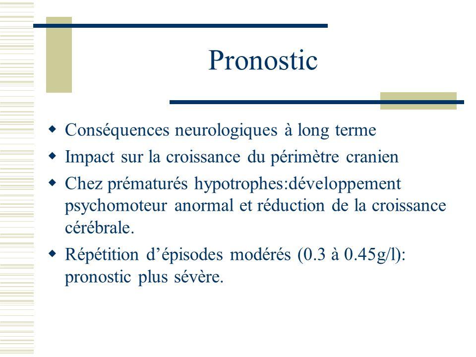 Pronostic Conséquences neurologiques à long terme