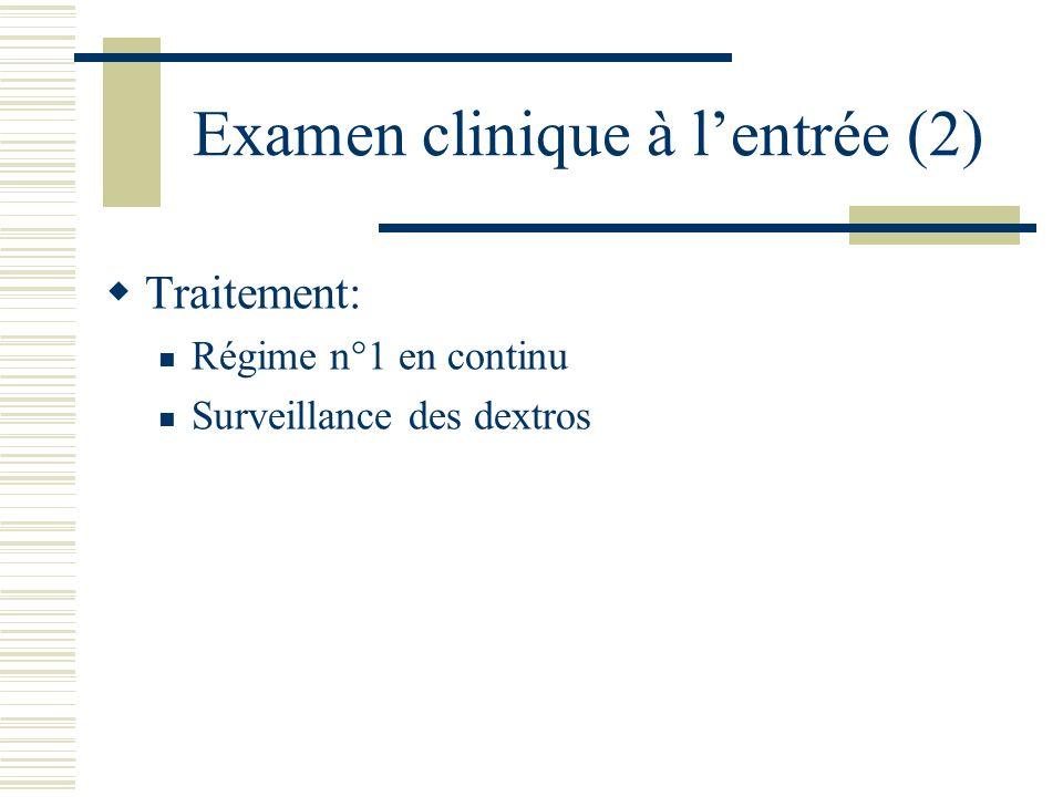 Examen clinique à l'entrée (2)