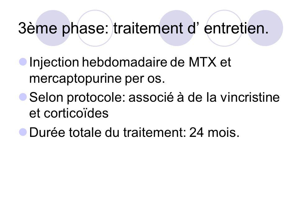 3ème phase: traitement d' entretien.