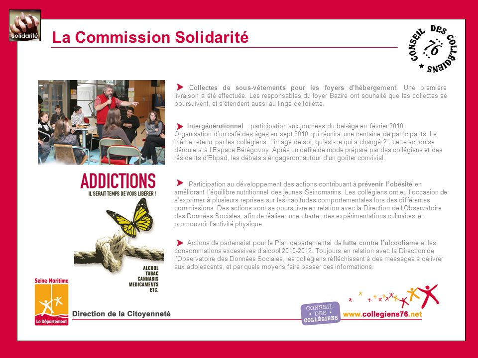 La Commission Solidarité