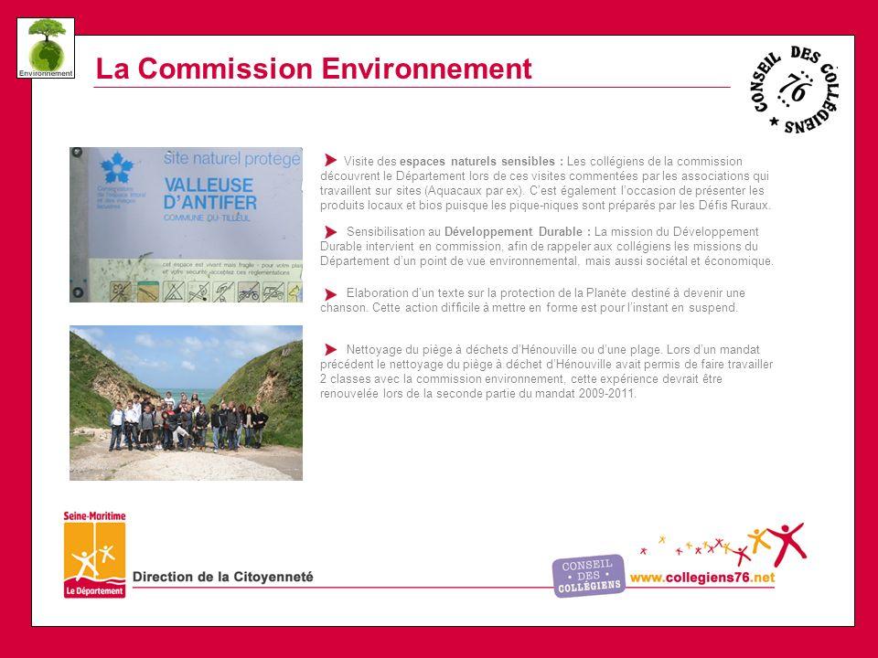 La Commission Environnement