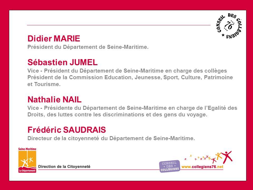 Didier MARIE Sébastien JUMEL Nathalie NAIL Frédéric SAUDRAIS
