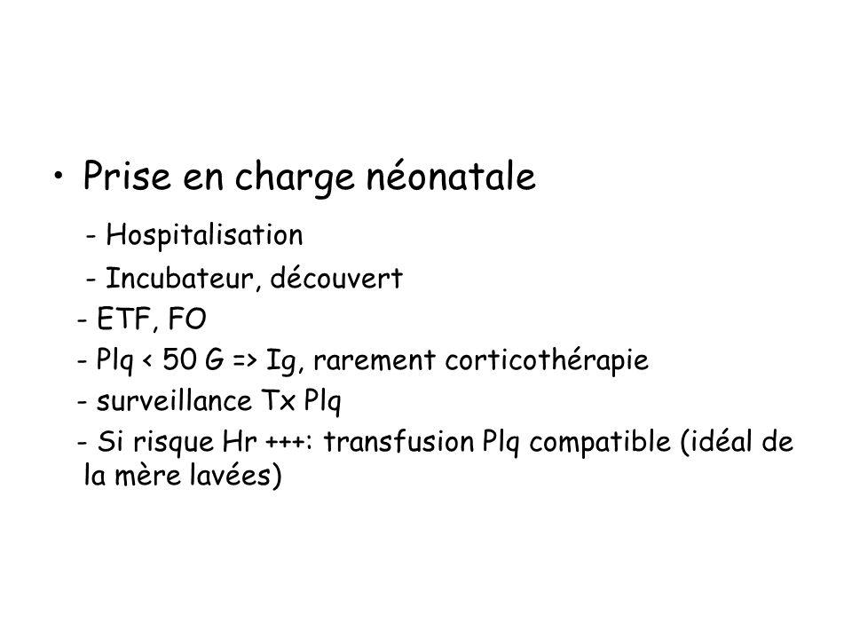 Prise en charge néonatale - Hospitalisation
