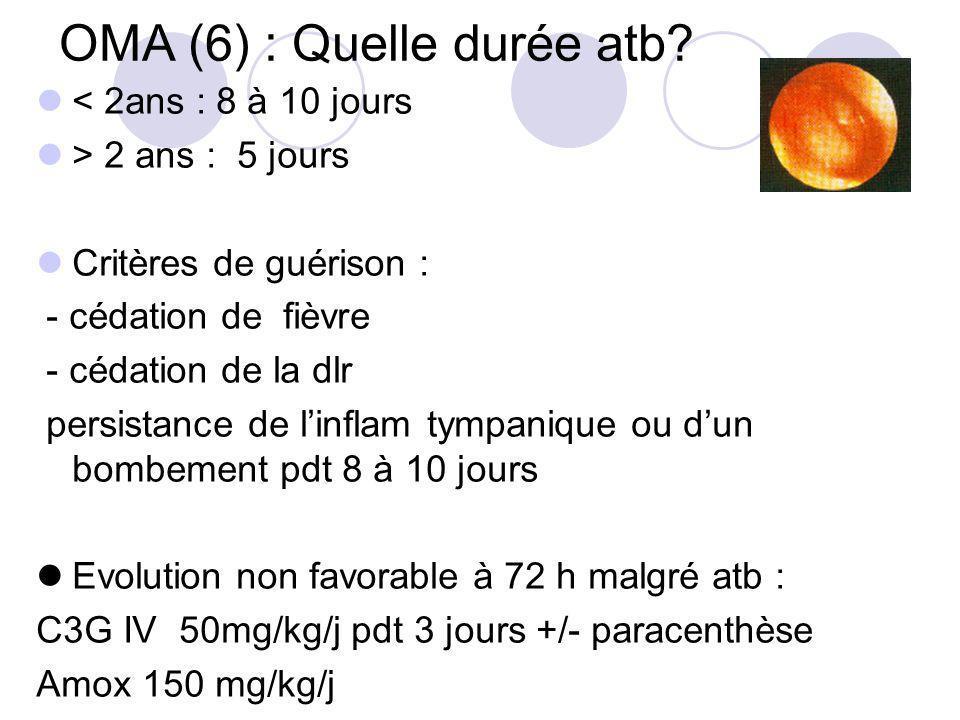 OMA (6) : Quelle durée atb