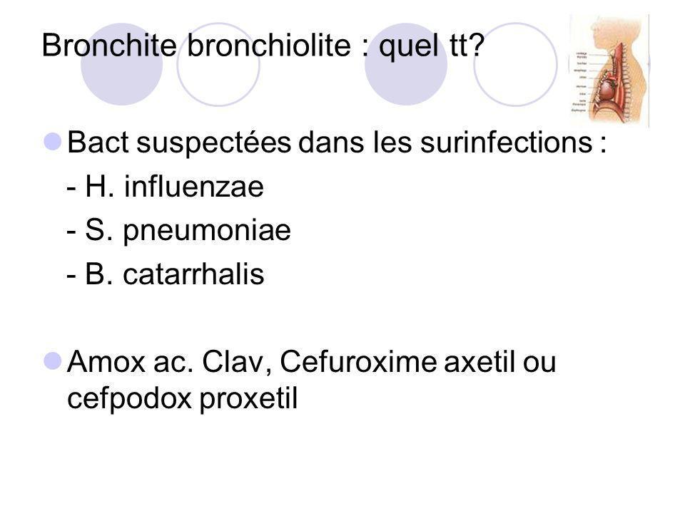 Bronchite bronchiolite : quel tt