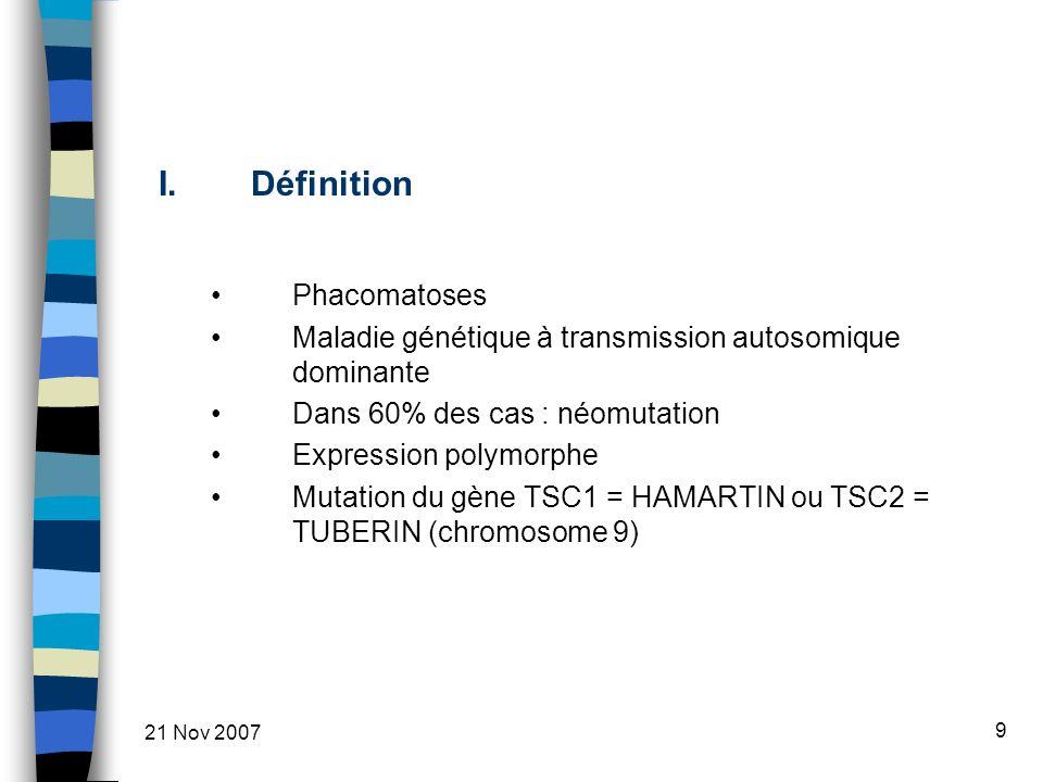 Définition Phacomatoses