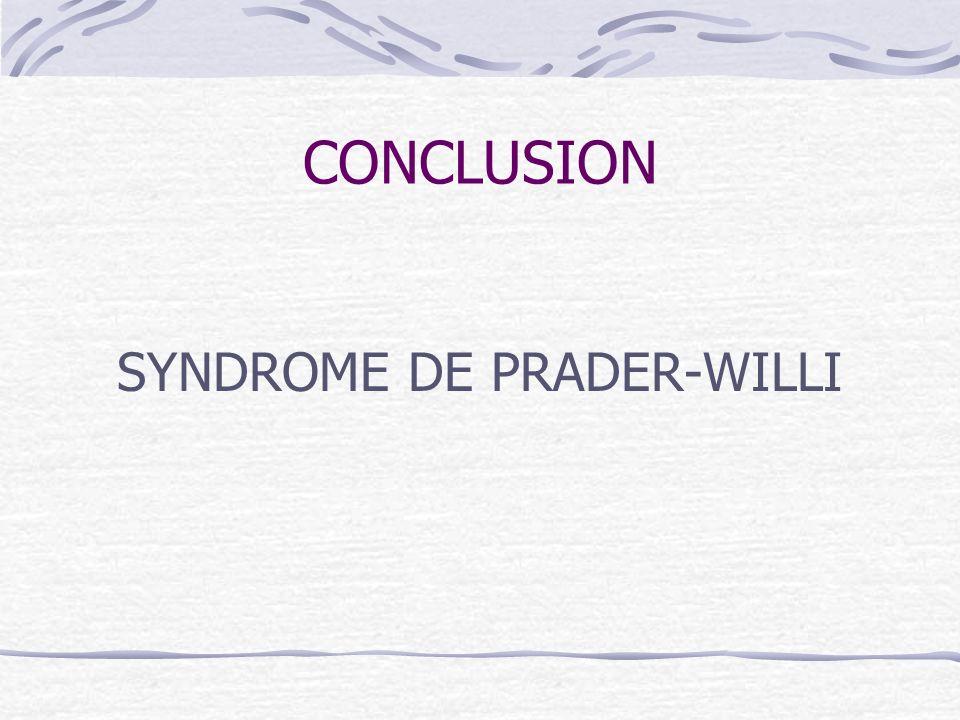 SYNDROME DE PRADER-WILLI