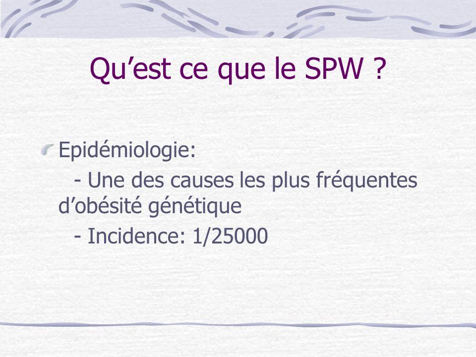 Qu'est ce que le SPW Epidémiologie:
