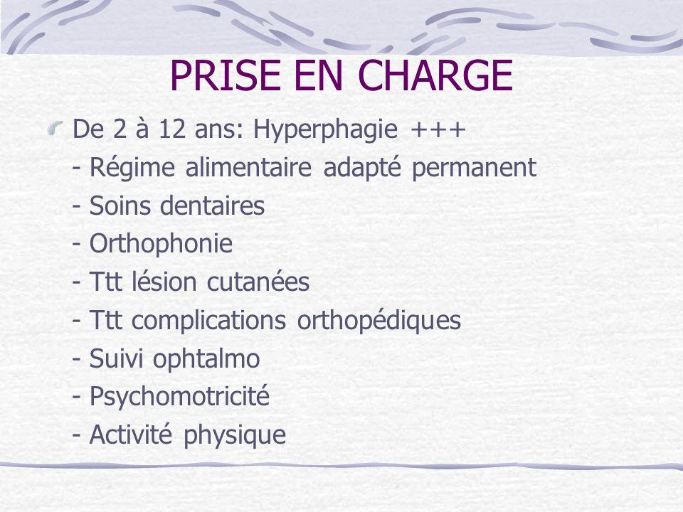 PRISE EN CHARGE De 2 à 12 ans: Hyperphagie +++