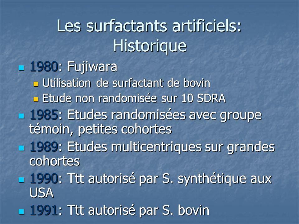 Les surfactants artificiels: Historique