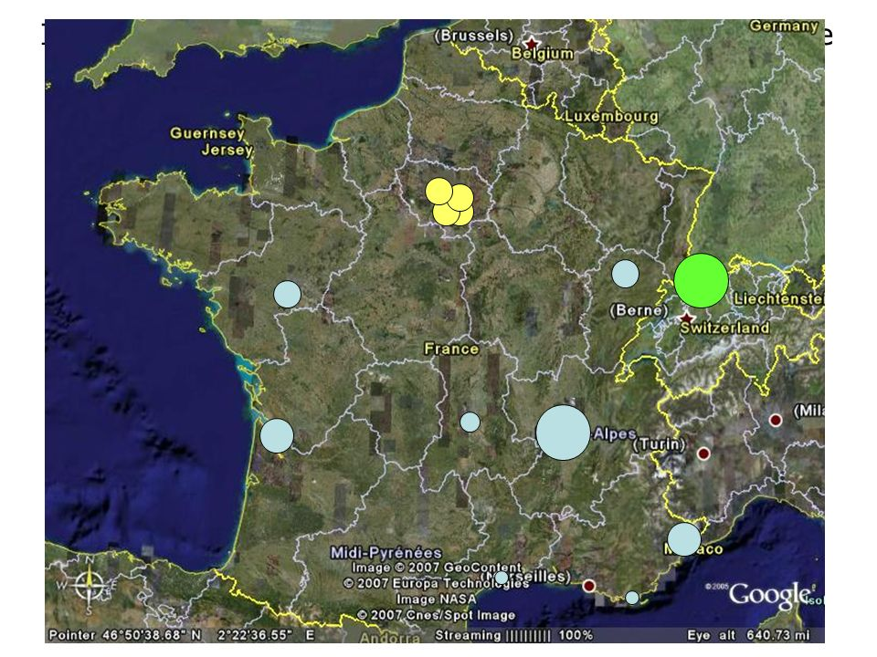 Implantation des sociétés de santé animale en France