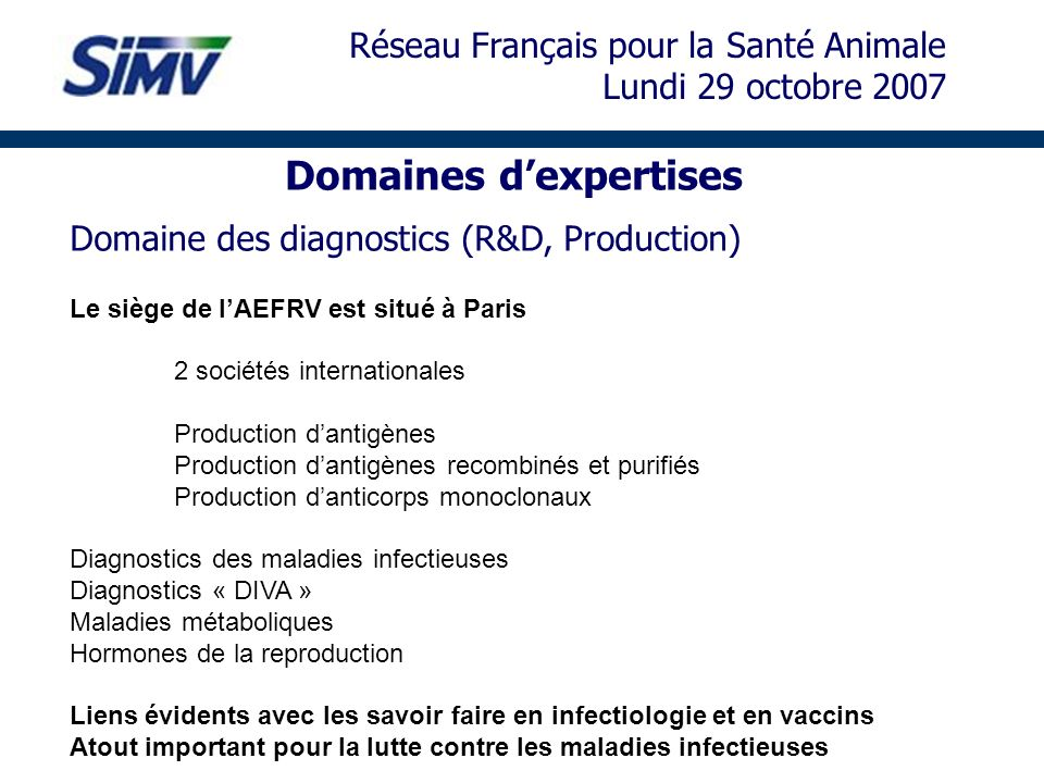 Domaines d'expertises