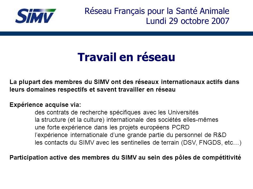 Travail en réseau Réseau Français pour la Santé Animale
