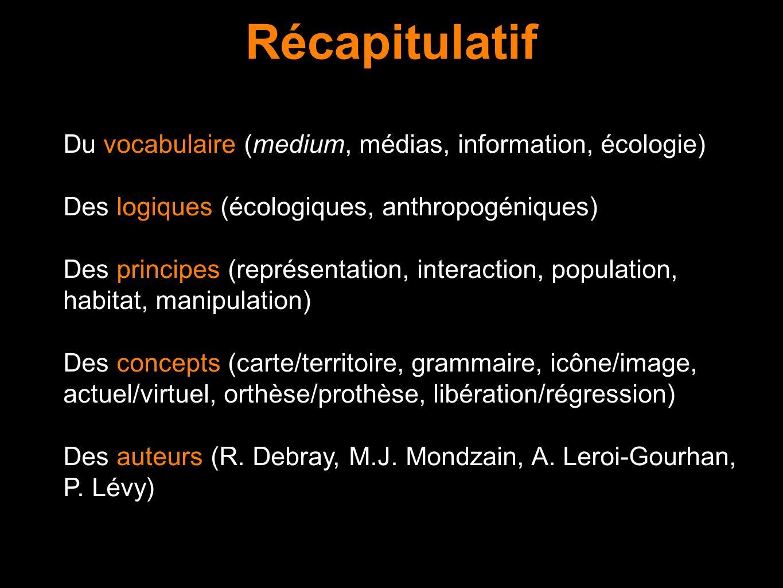 Récapitulatif Du vocabulaire (medium, médias, information, écologie)