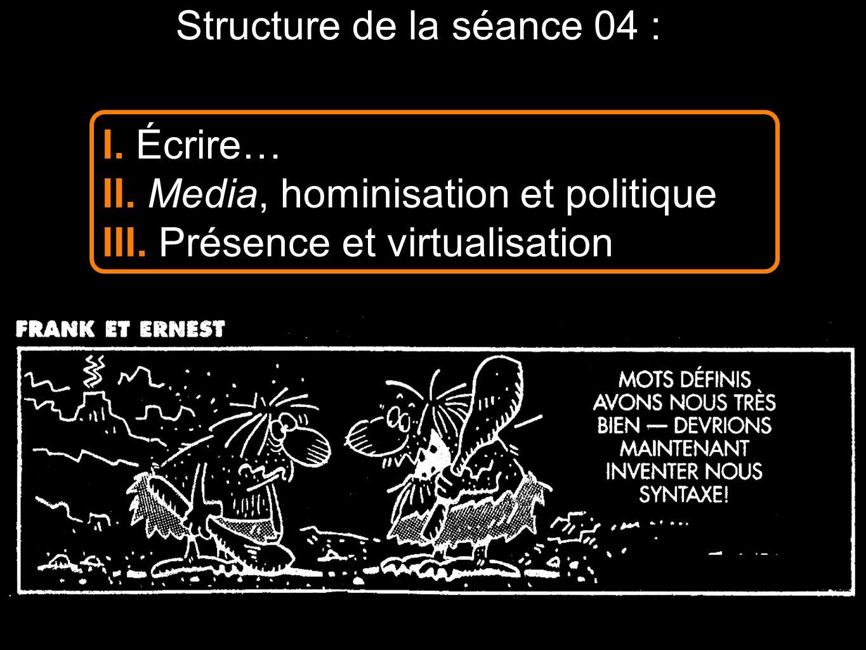 Structure de la séance 04 :