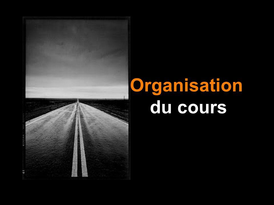 Organisation du cours R. Depardon, Route