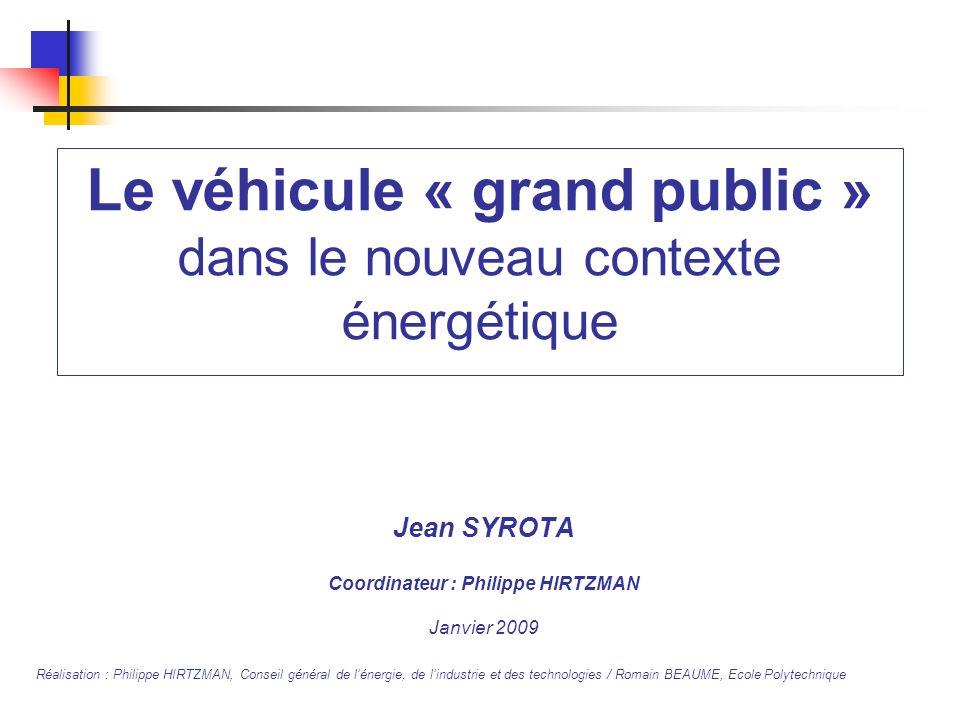 Le véhicule « grand public » dans le nouveau contexte énergétique