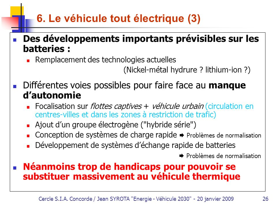 6. Le véhicule tout électrique (3)