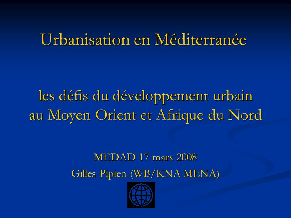Urbanisation en Méditerranée