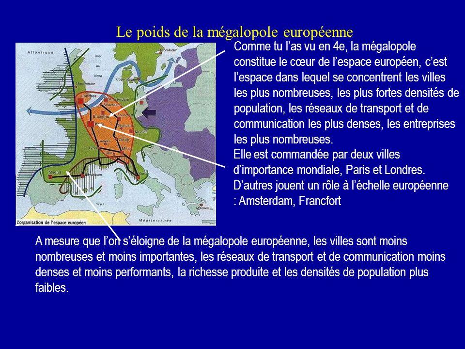 Le poids de la mégalopole européenne