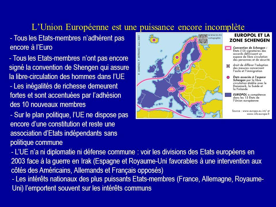 L'Union Européenne est une puissance encore incomplète
