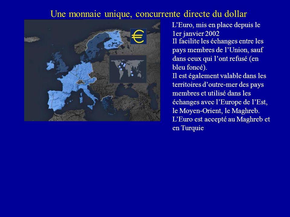 Une monnaie unique, concurrente directe du dollar