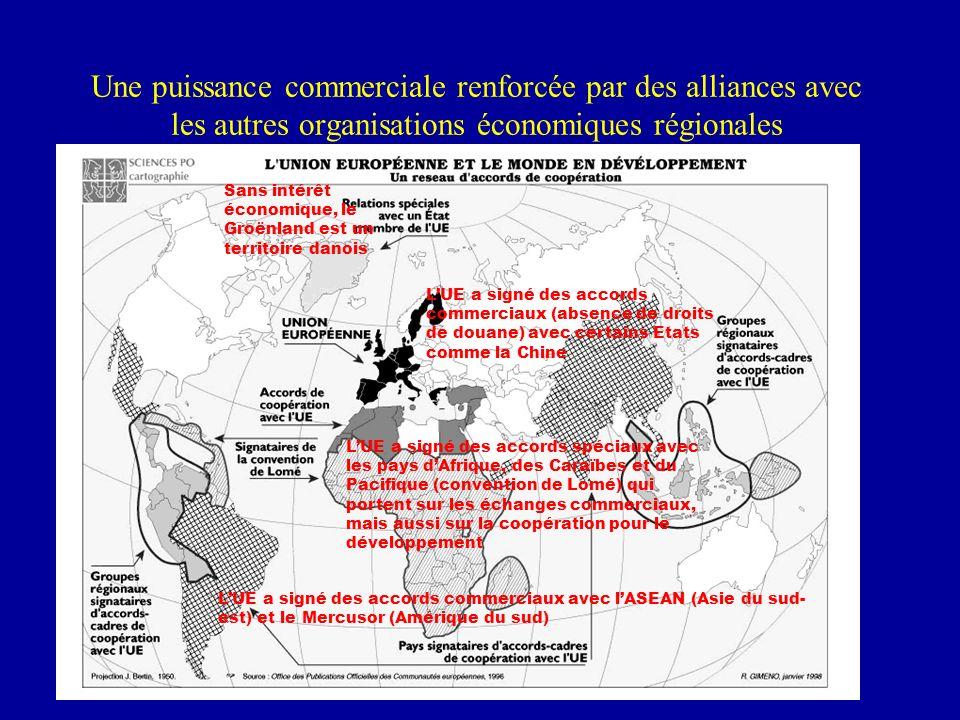 Une puissance commerciale renforcée par des alliances avec les autres organisations économiques régionales