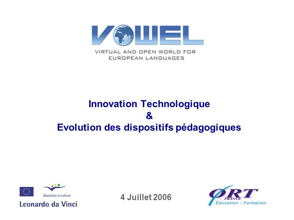 Innovation Technologique & Evolution des dispositifs pédagogiques