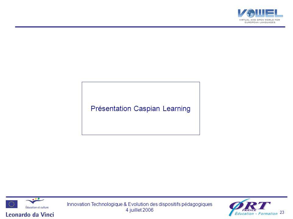 Présentation Caspian Learning