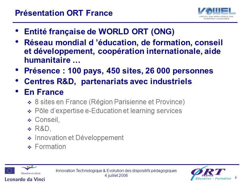 Présentation ORT France