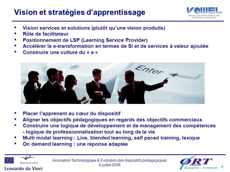 Vision et stratégies d'apprentissage
