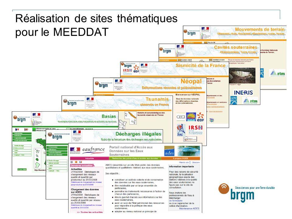 Réalisation de sites thématiques pour le MEEDDAT