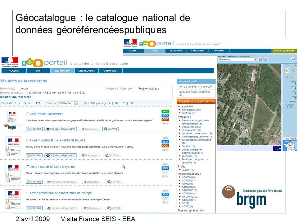 Géocatalogue : le catalogue national de données géoréférencéespubliques