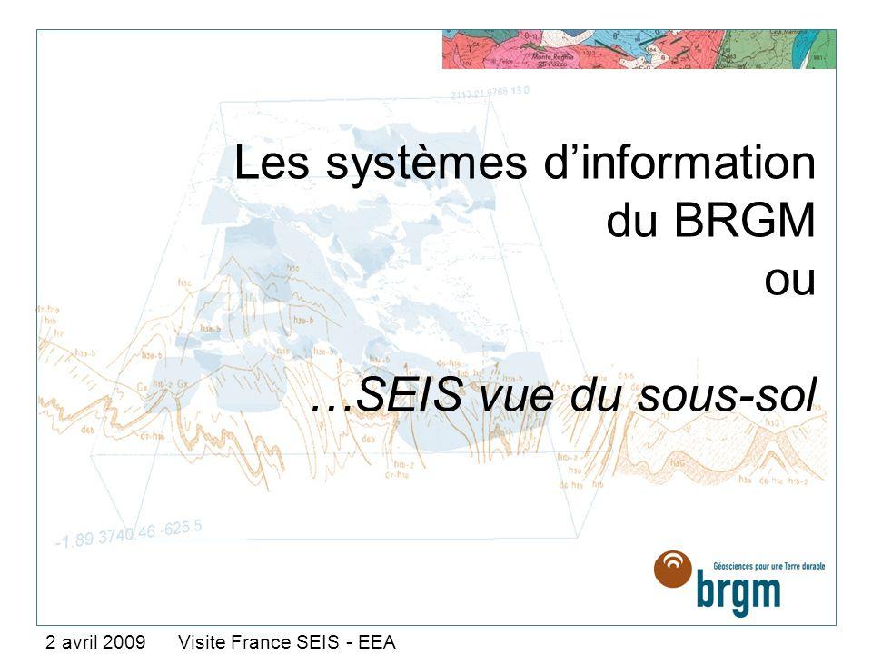 Les systèmes d'information du BRGM ou …SEIS vue du sous-sol