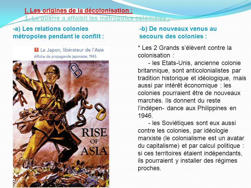 I. Les origines de la décolonisation :