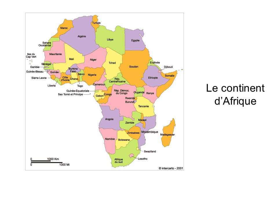 Le continent d'Afrique