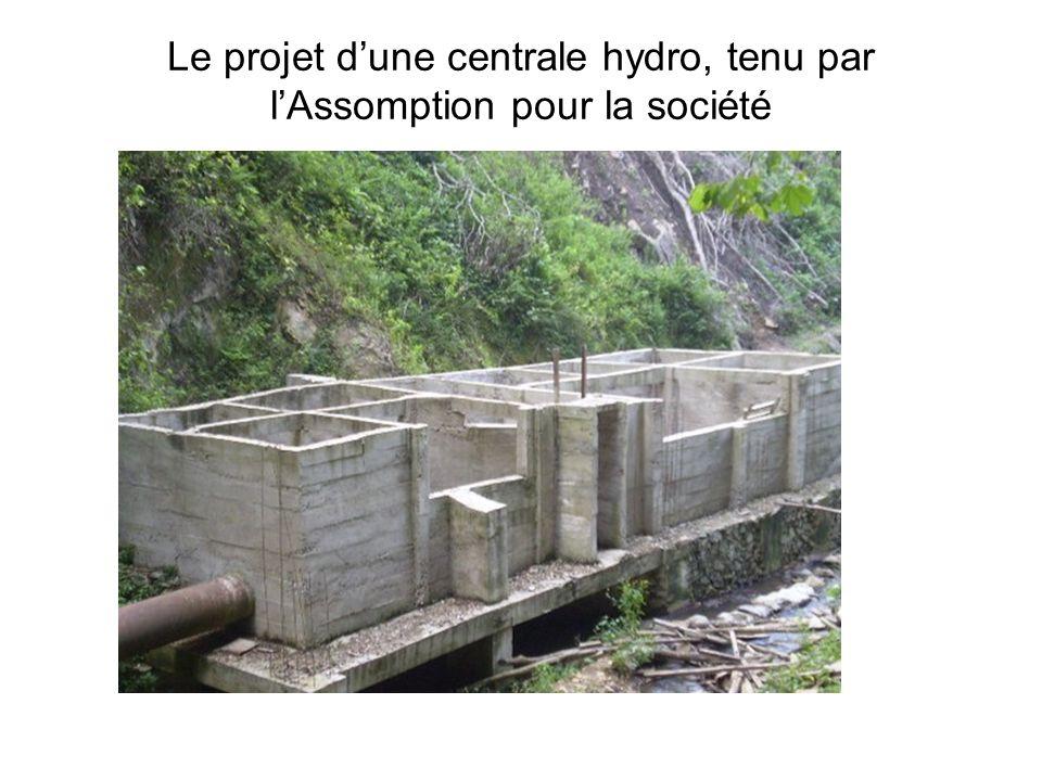 Le projet d'une centrale hydro, tenu par l'Assomption pour la société