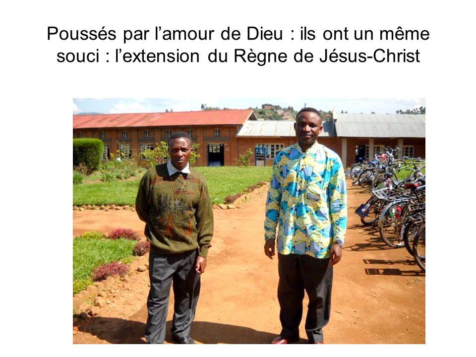 Poussés par l'amour de Dieu : ils ont un même souci : l'extension du Règne de Jésus-Christ