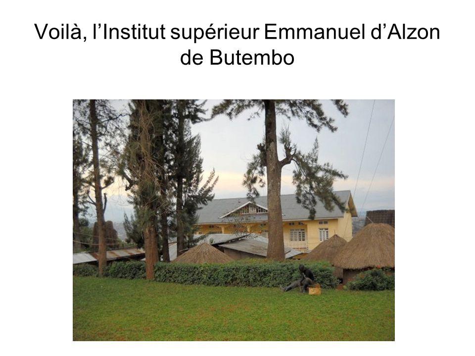 Voilà, l'Institut supérieur Emmanuel d'Alzon de Butembo