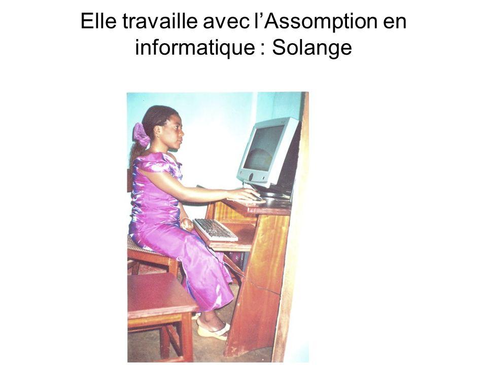 Elle travaille avec l'Assomption en informatique : Solange