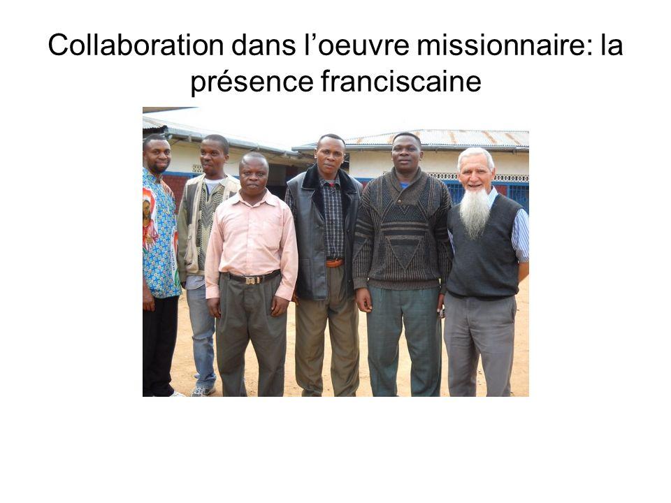 Collaboration dans l'oeuvre missionnaire: la présence franciscaine