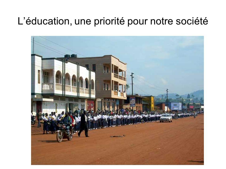 L'éducation, une priorité pour notre société
