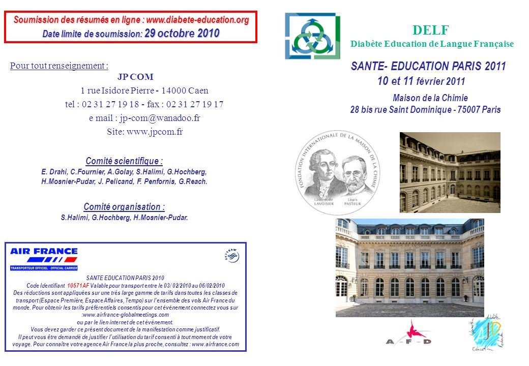 DELF SANTE- EDUCATION PARIS 2011 10 et 11 février 2011