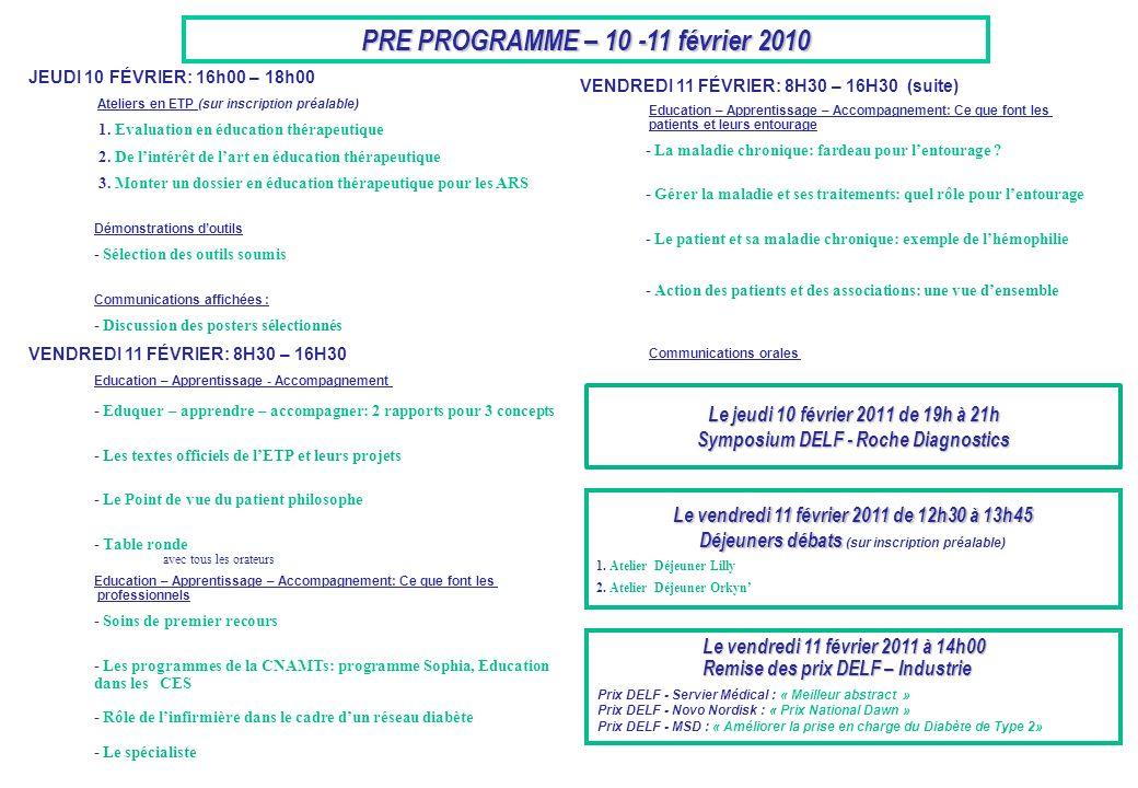 PRE PROGRAMME – 10 -11 février 2010