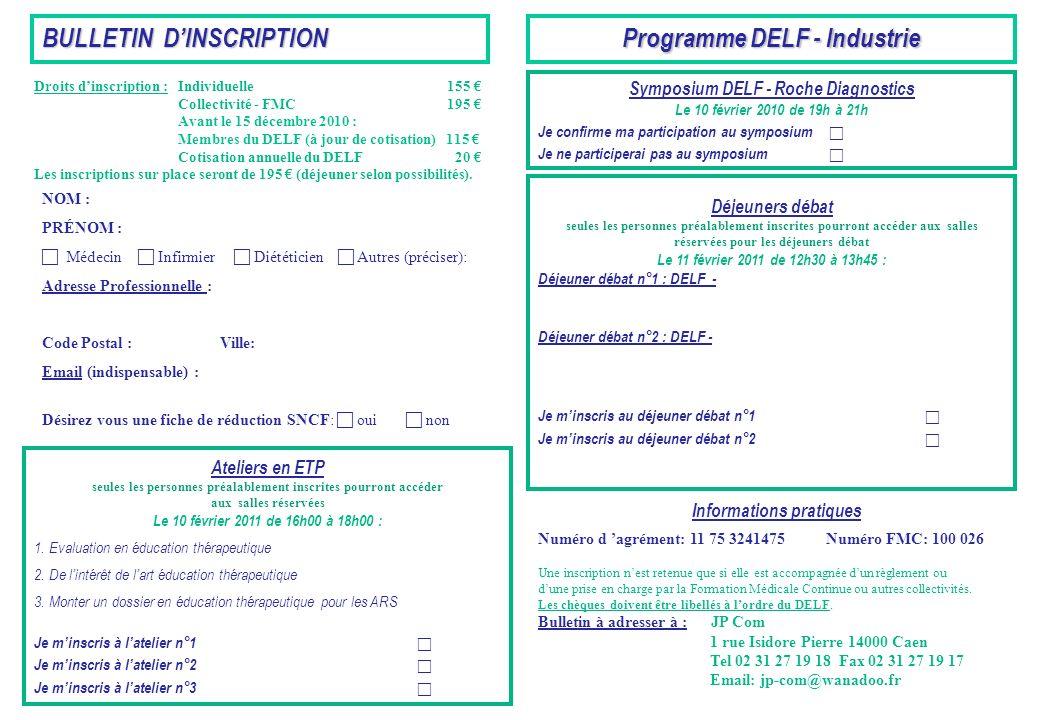 Programme DELF - Industrie
