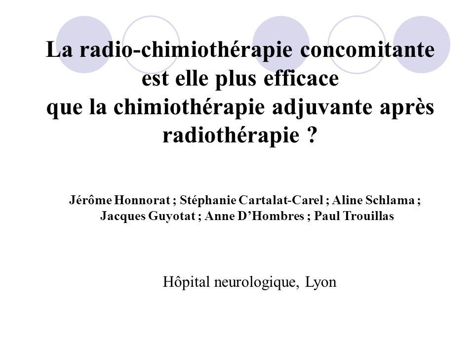 La radio-chimiothérapie concomitante est elle plus efficace