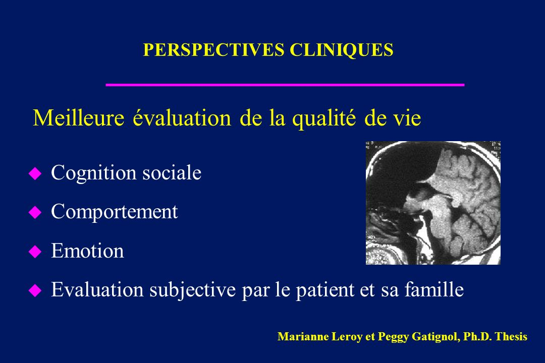 PERSPECTIVES CLINIQUES