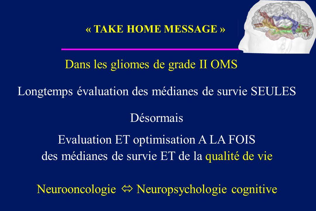Dans les gliomes de grade II OMS