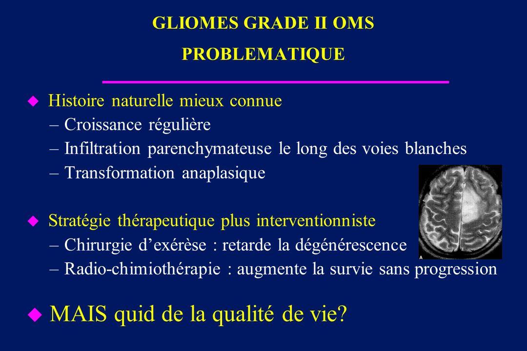 GLIOMES GRADE II OMS PROBLEMATIQUE