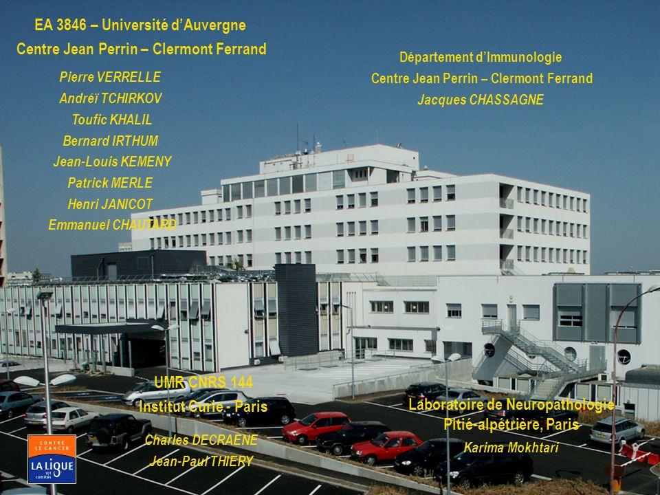 EA 3846 – Université d'Auvergne Centre Jean Perrin – Clermont Ferrand